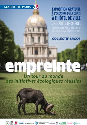 L'affiche de l'exposition à l'Hôtel de Ville de Paris.